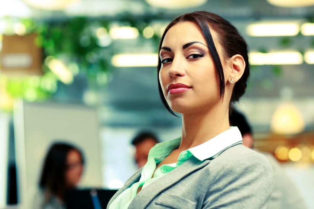 Portrait of a beautiful businesswoman in office