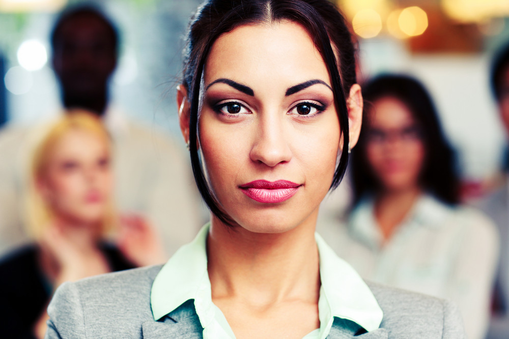Closeup portrait of a beautiful young businesswoman