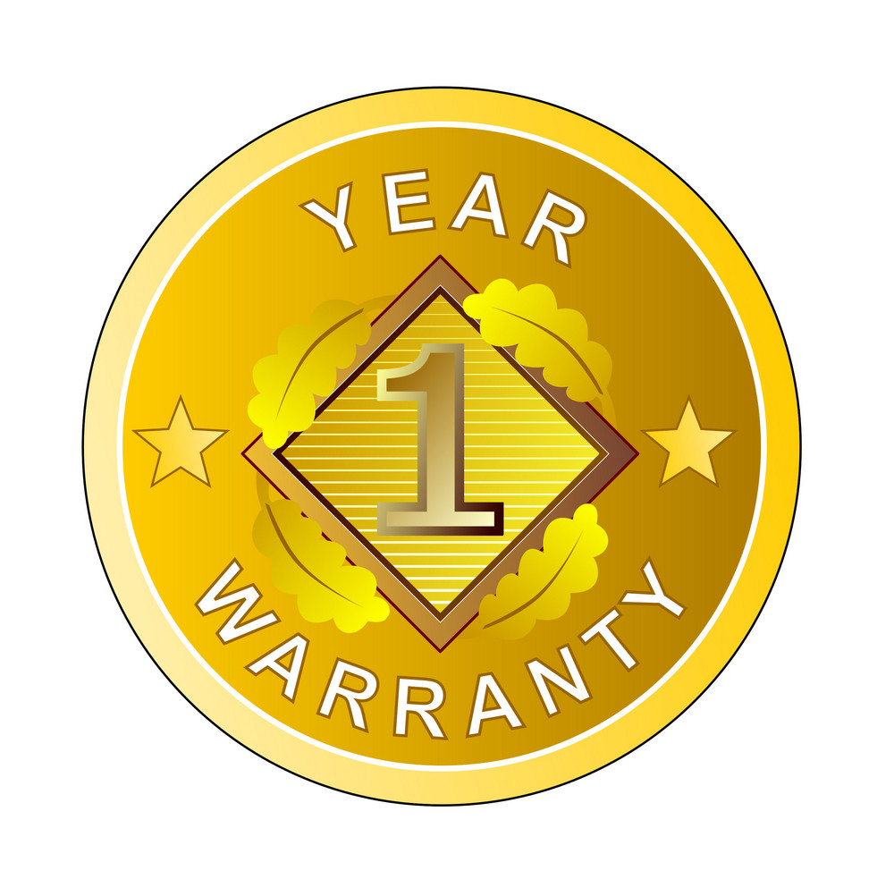 1 Year Warranty In Circle