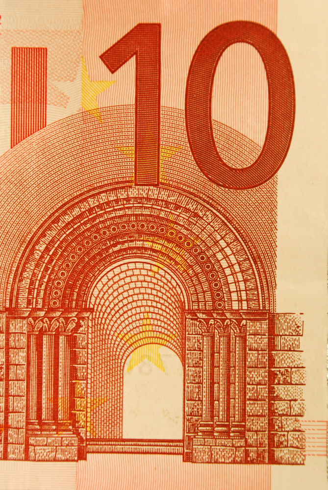 10 Euro Bill (close Up)