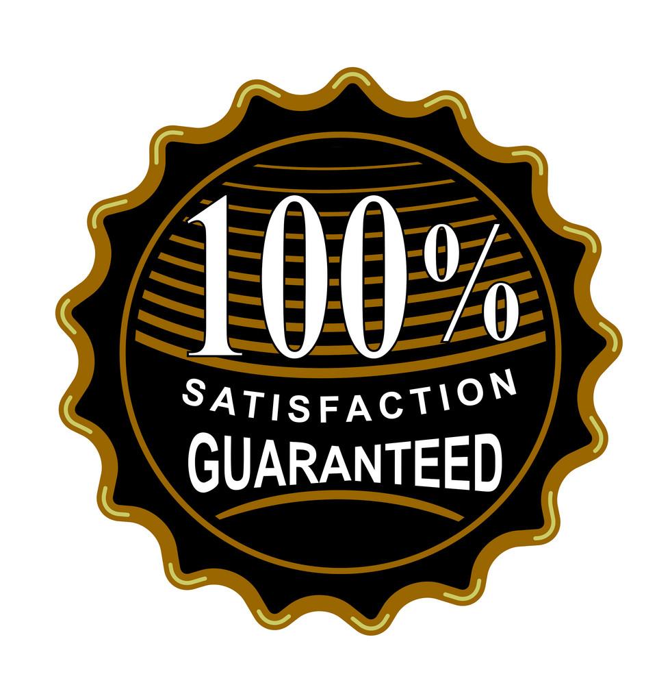 100% Satisfaction Guaranteed Black Seal