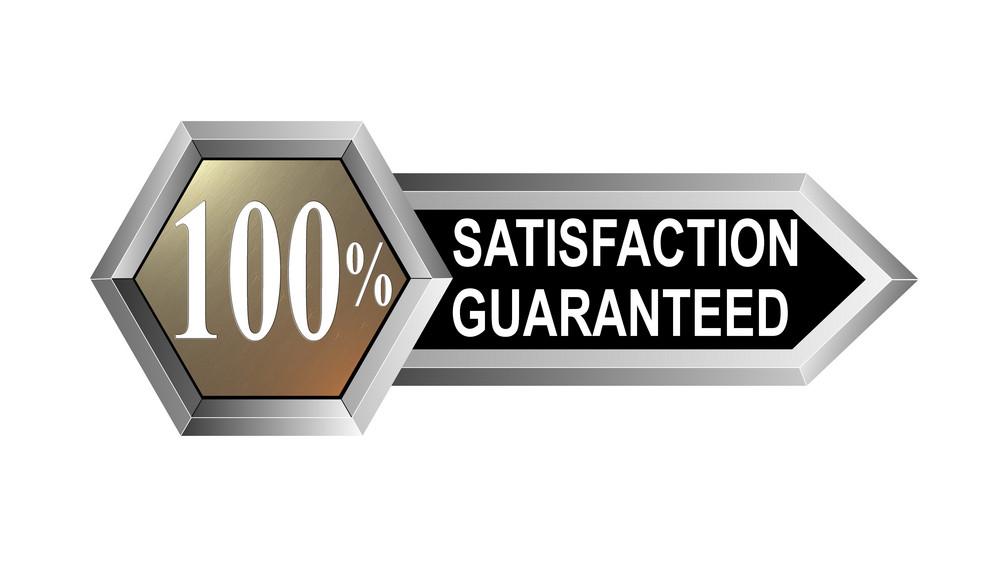 100% Satisfaction Guaranteed Hexagon Seal