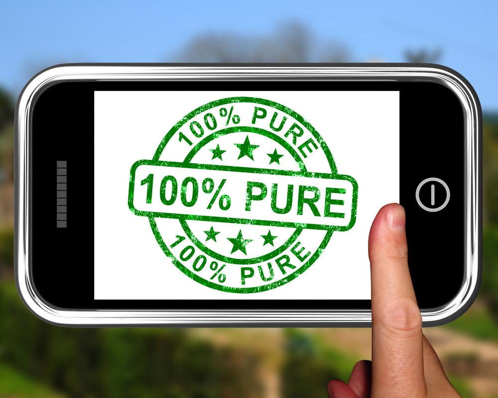 100percent Pure On Smartphone Shows Genuine