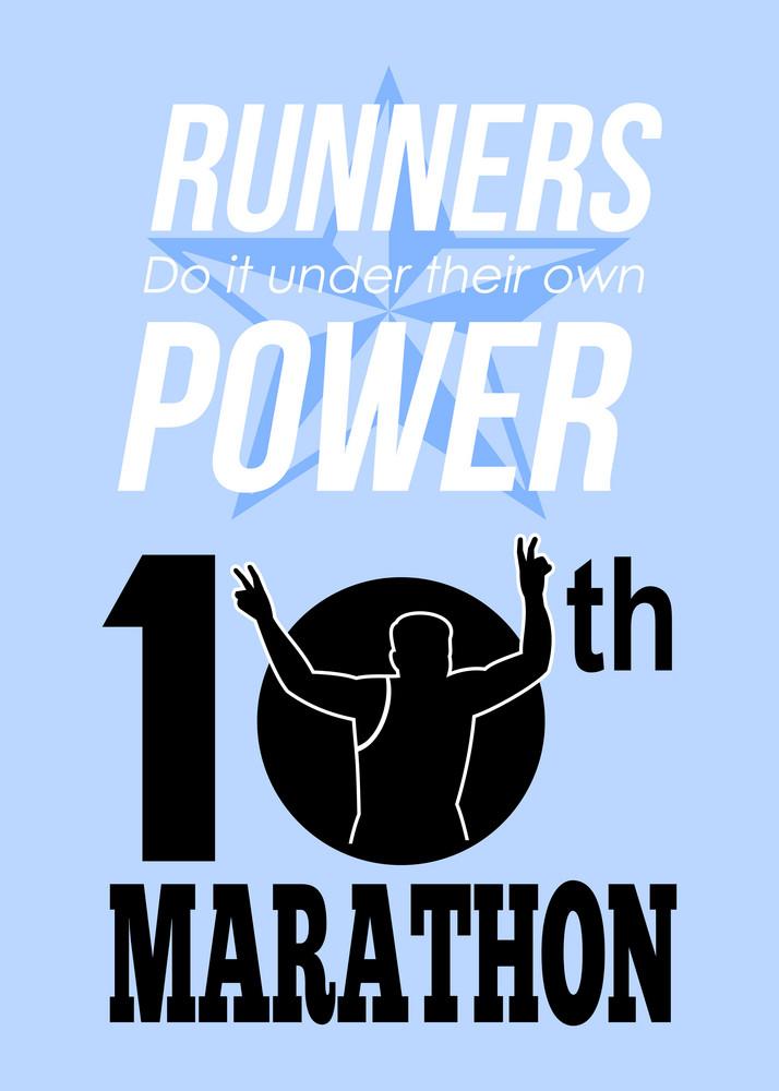10th Marathon Race Poster
