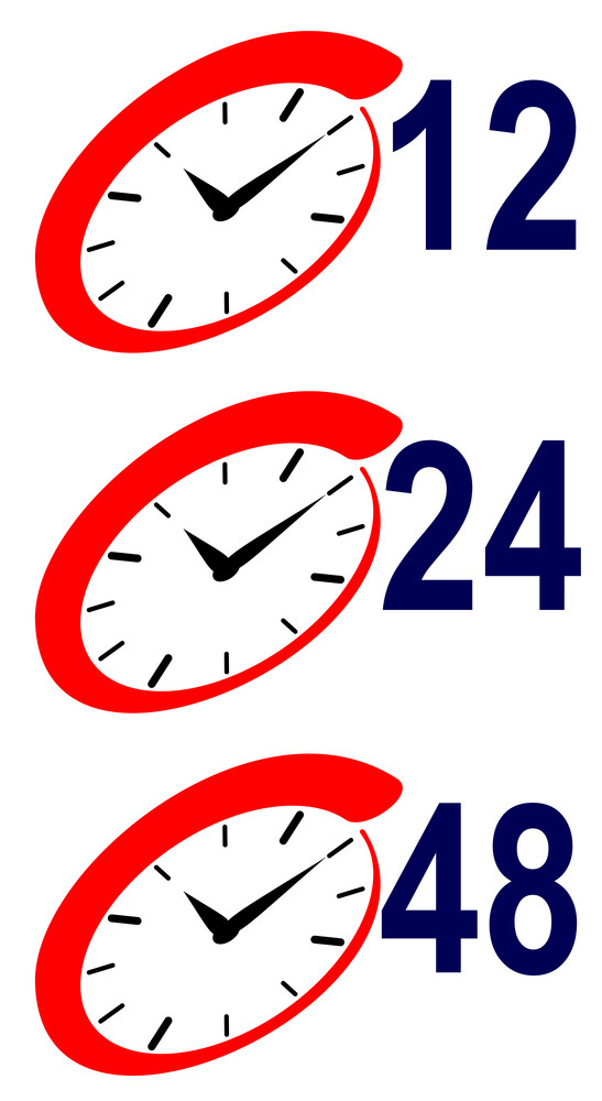 12 24 48 Hour Sign And Clock