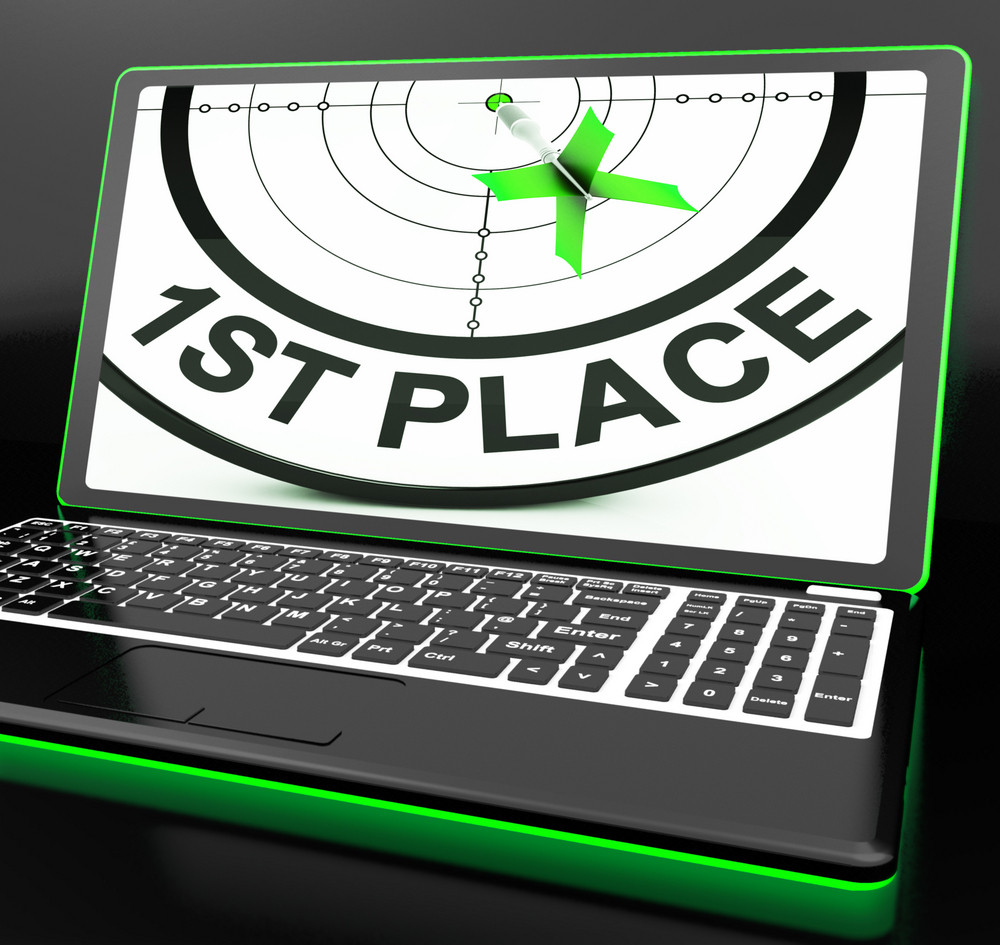1st Place On Laptop Showing Targeting Victory