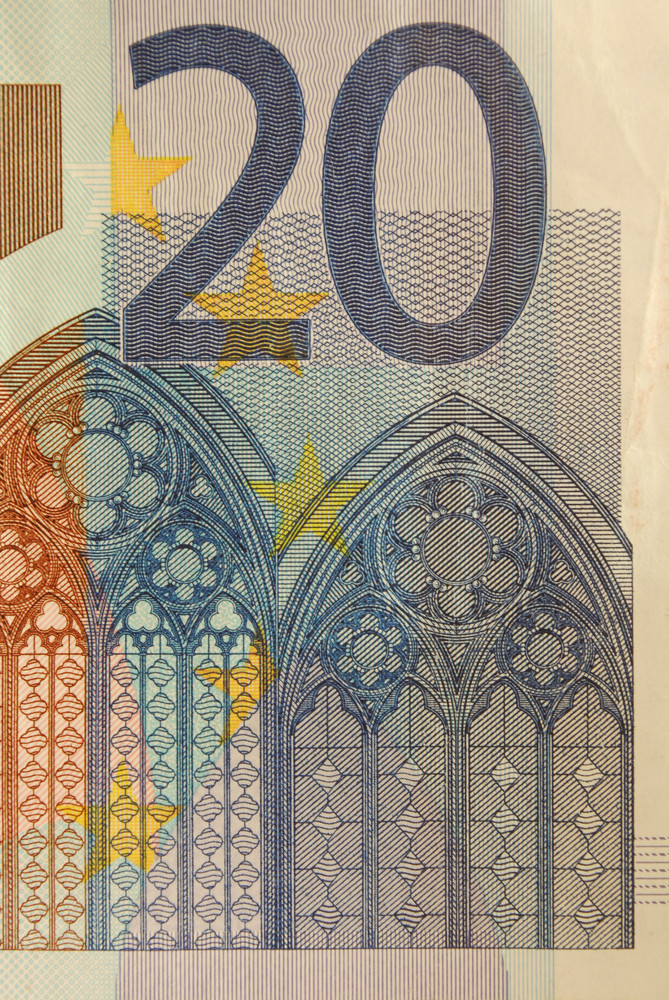 20 Euro Bill (close Up)
