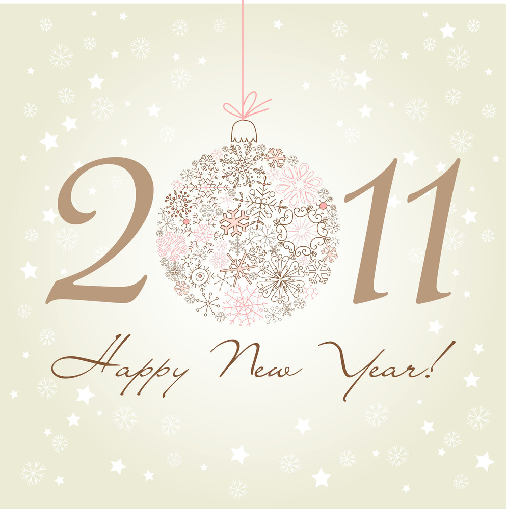 2011 Happy New Year Background.