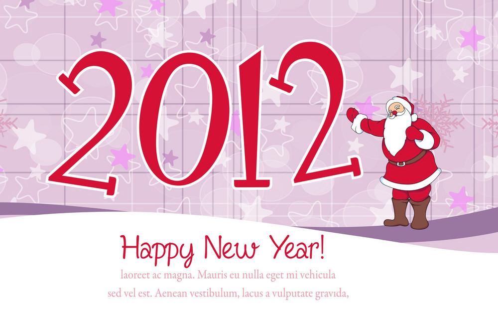 2012 Card Vector Illustration