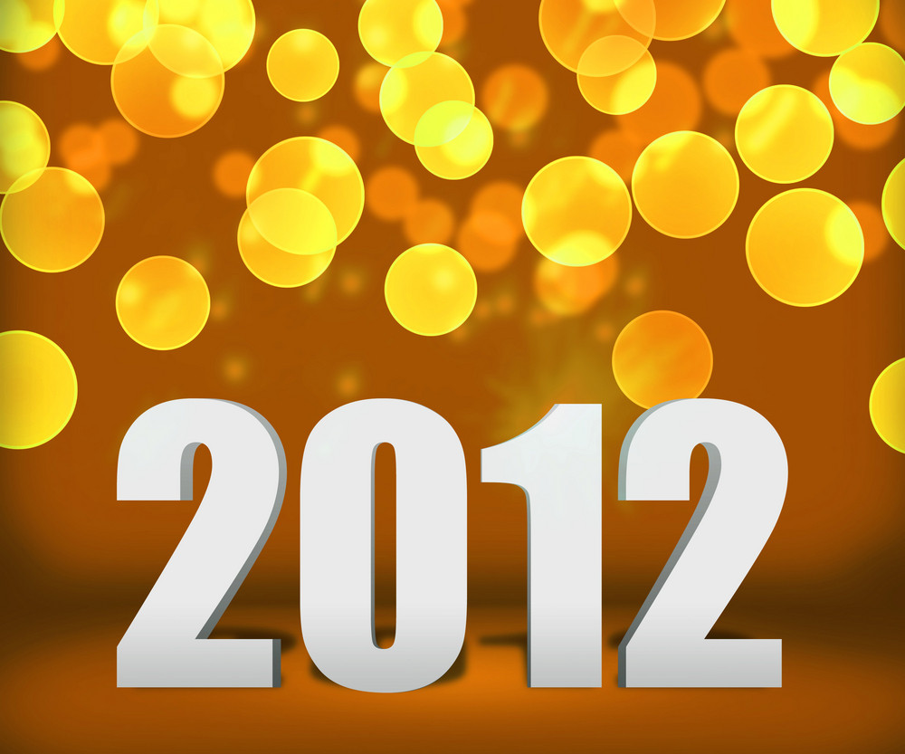 2012 Gold New Year Background Stage