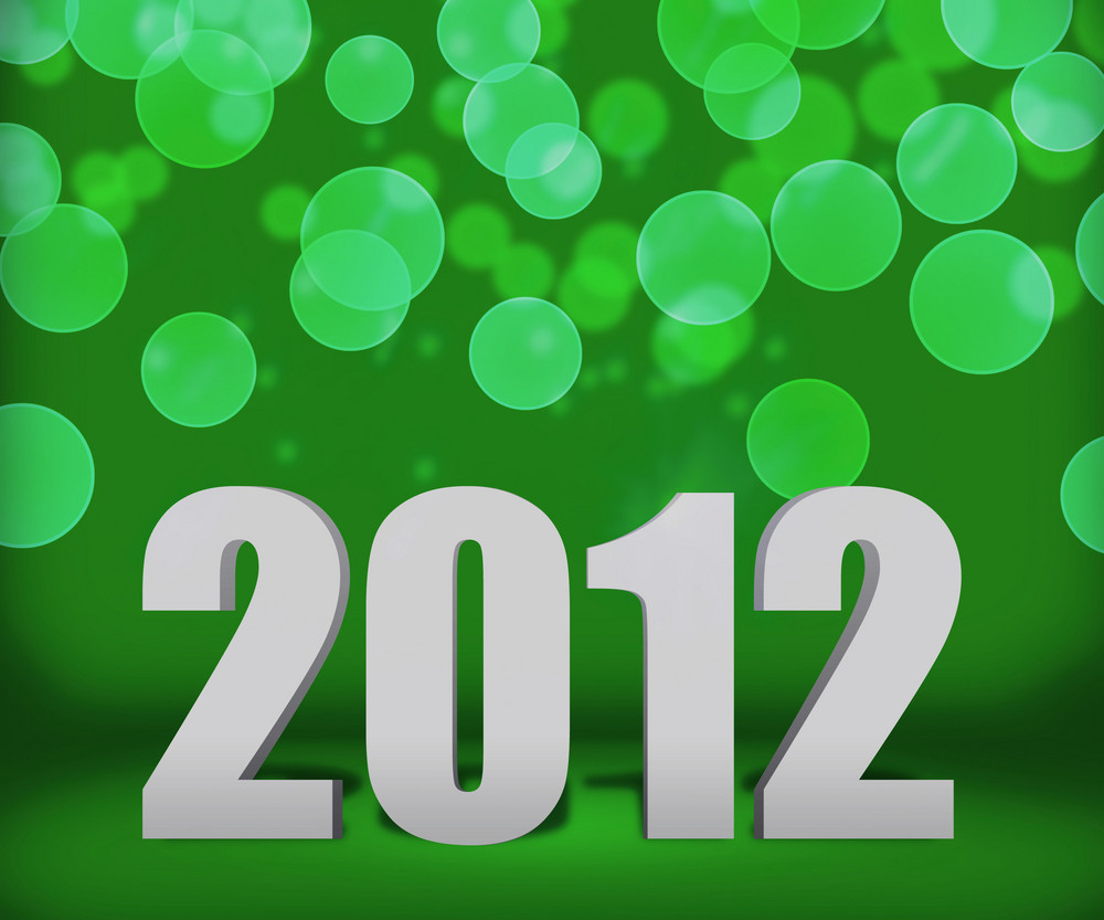 2012 Green New Year Background Stage