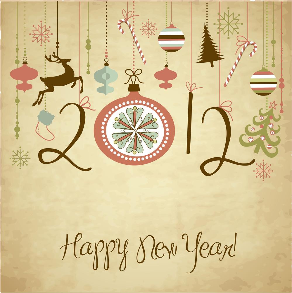 2012 Happy New Year Background.