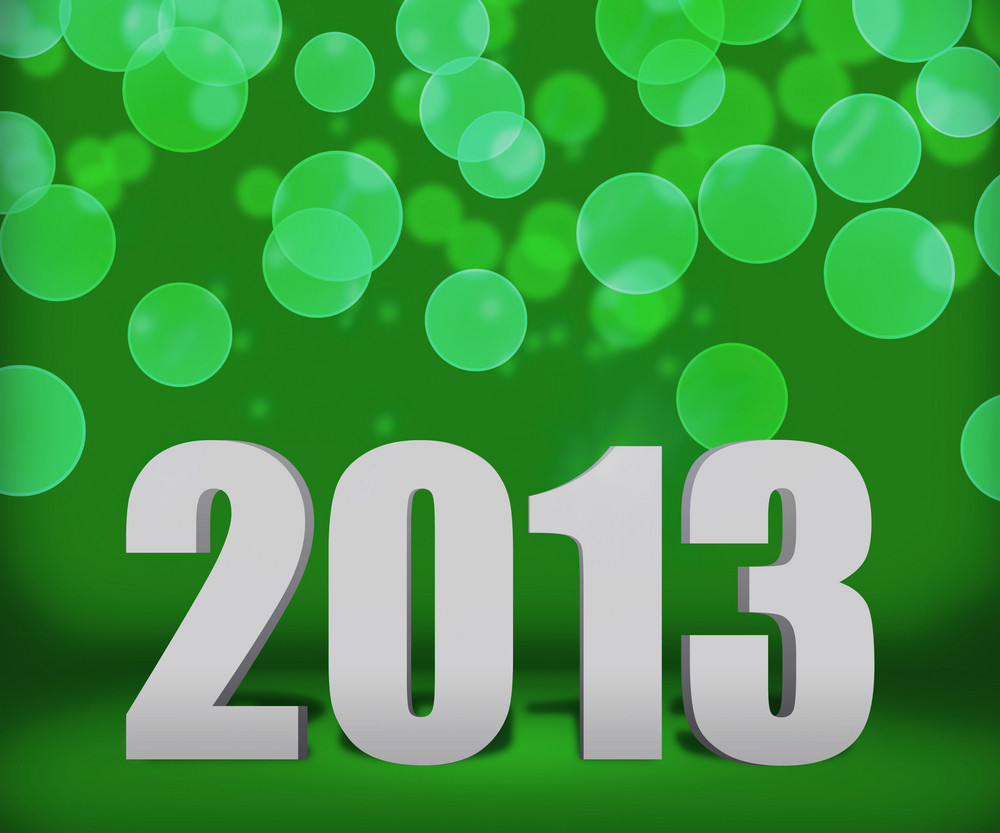 2013 Green New Year Background Stage
