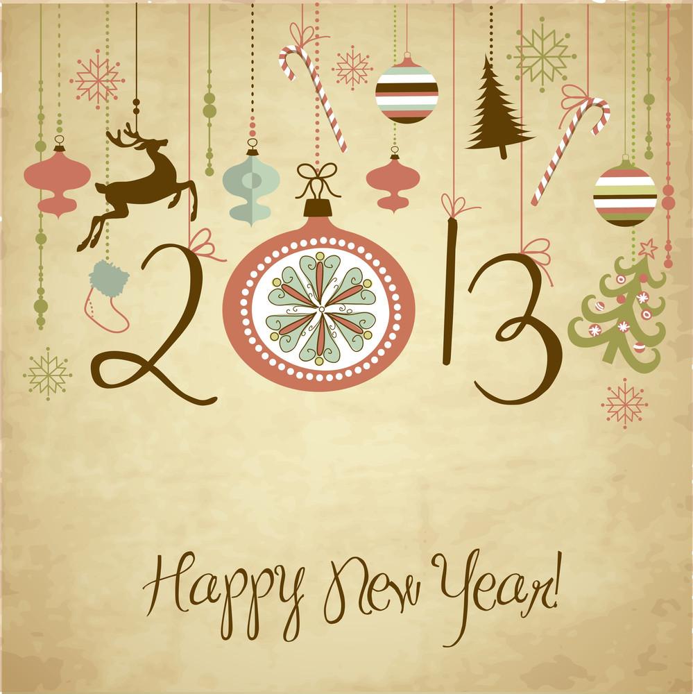 2013 Happy New Year Background.