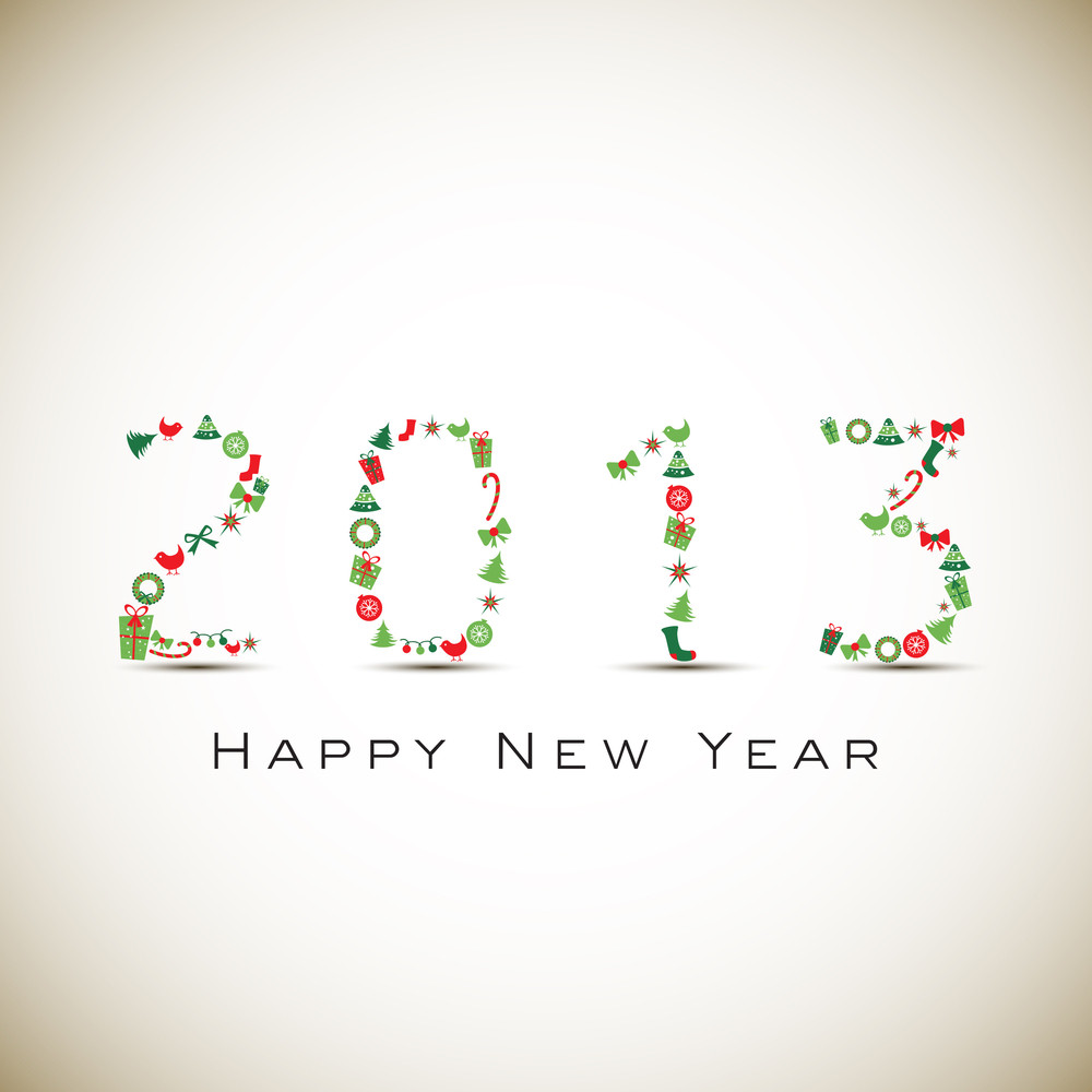 2013 Happy New Year Greeting Card 10
