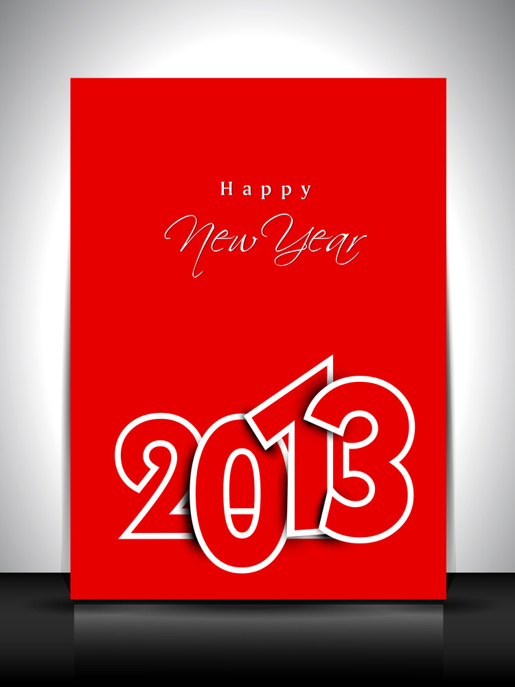 2013 Happy New Year Greeting Card Or Gift Card.