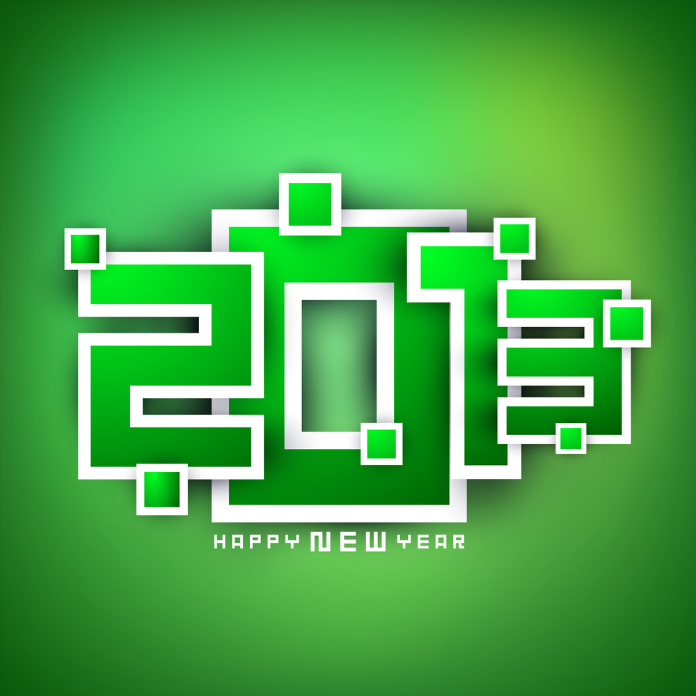 2013 Happy New Year Greeting Card.