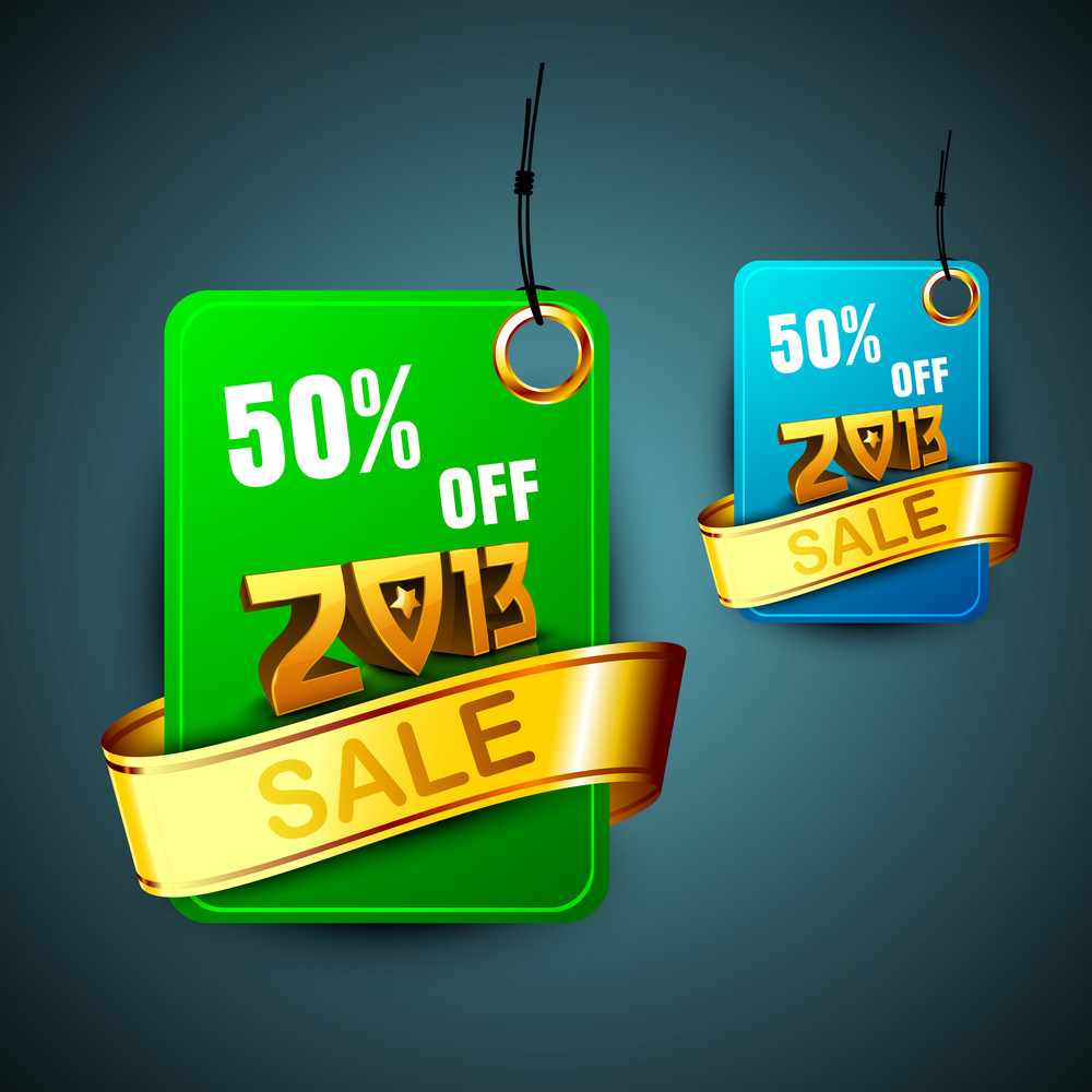 2013 New Year Discount Sale Sticker