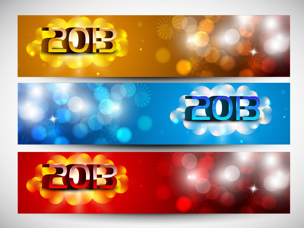 2013 New Year Website Headers Or Banners