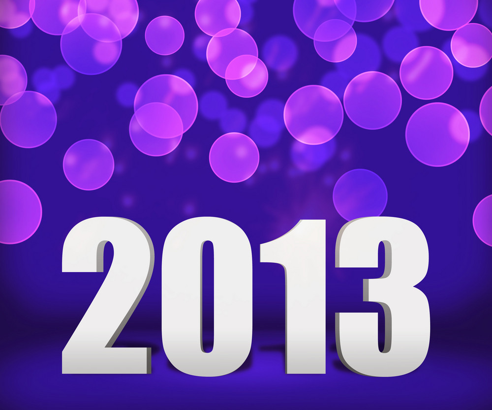 2013 Violet New Year Background Stage