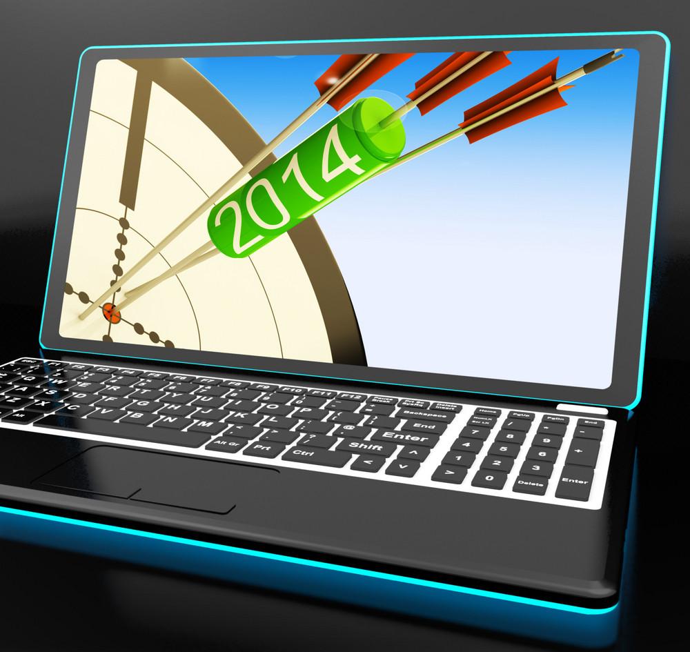2014 Arrows On Laptop Showing Festivities