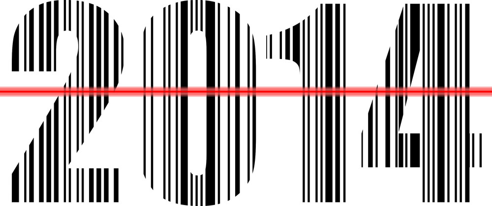 2014 Barcode Design. Vector Illustration