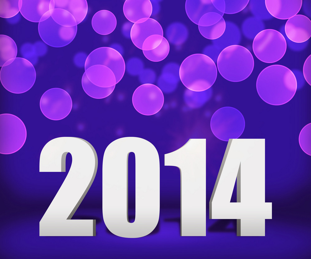 2014 Violet New Year Background Stage