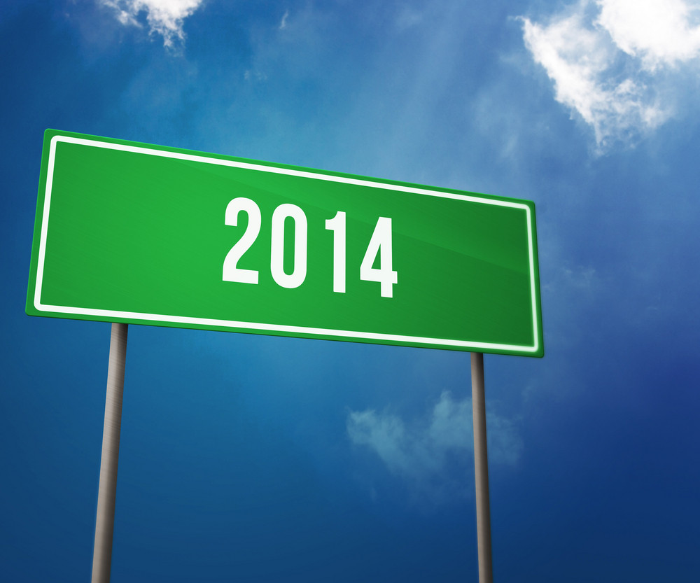 2014 Year On The Road Sign