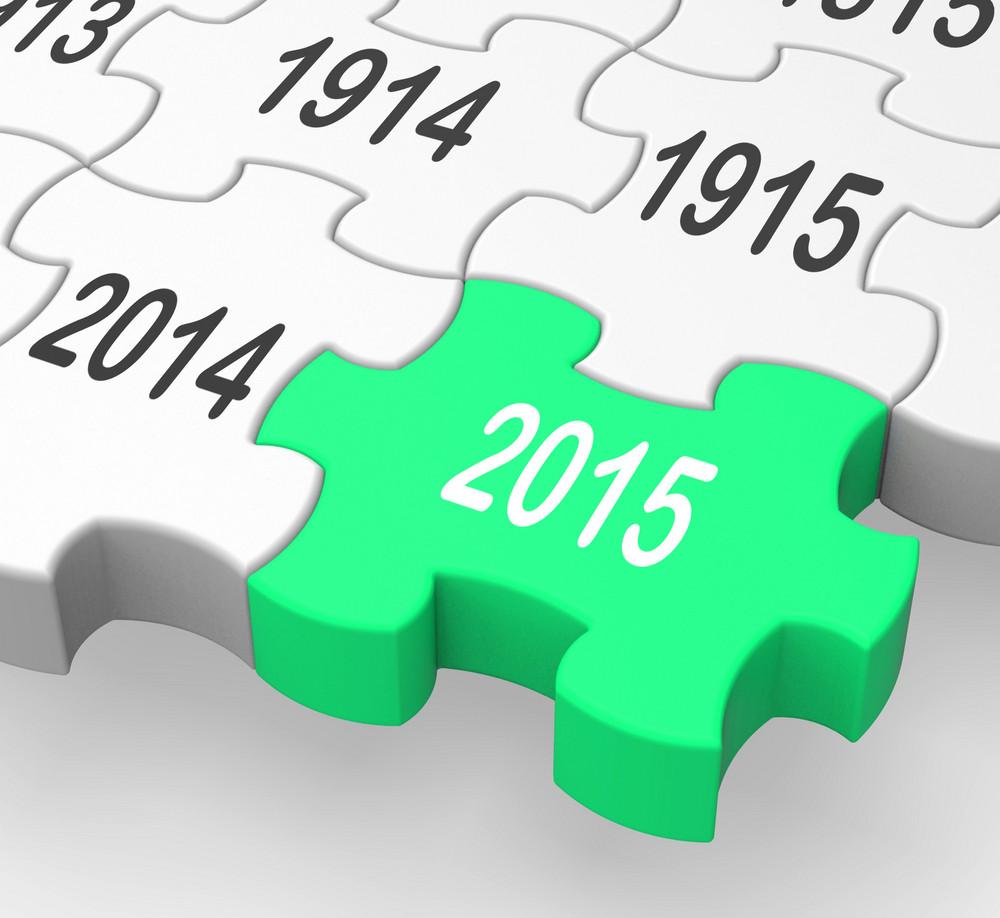 2015 Puzzle Piece Showing Business Future Plans