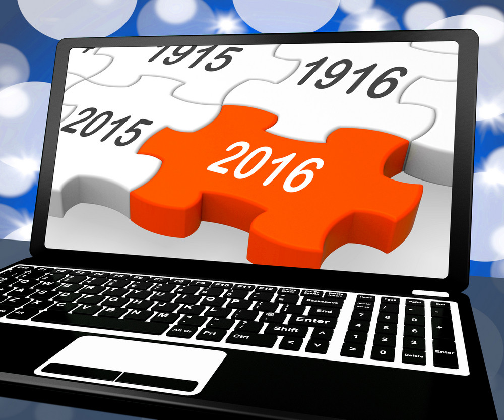2016 On Laptop Shows Future Technology