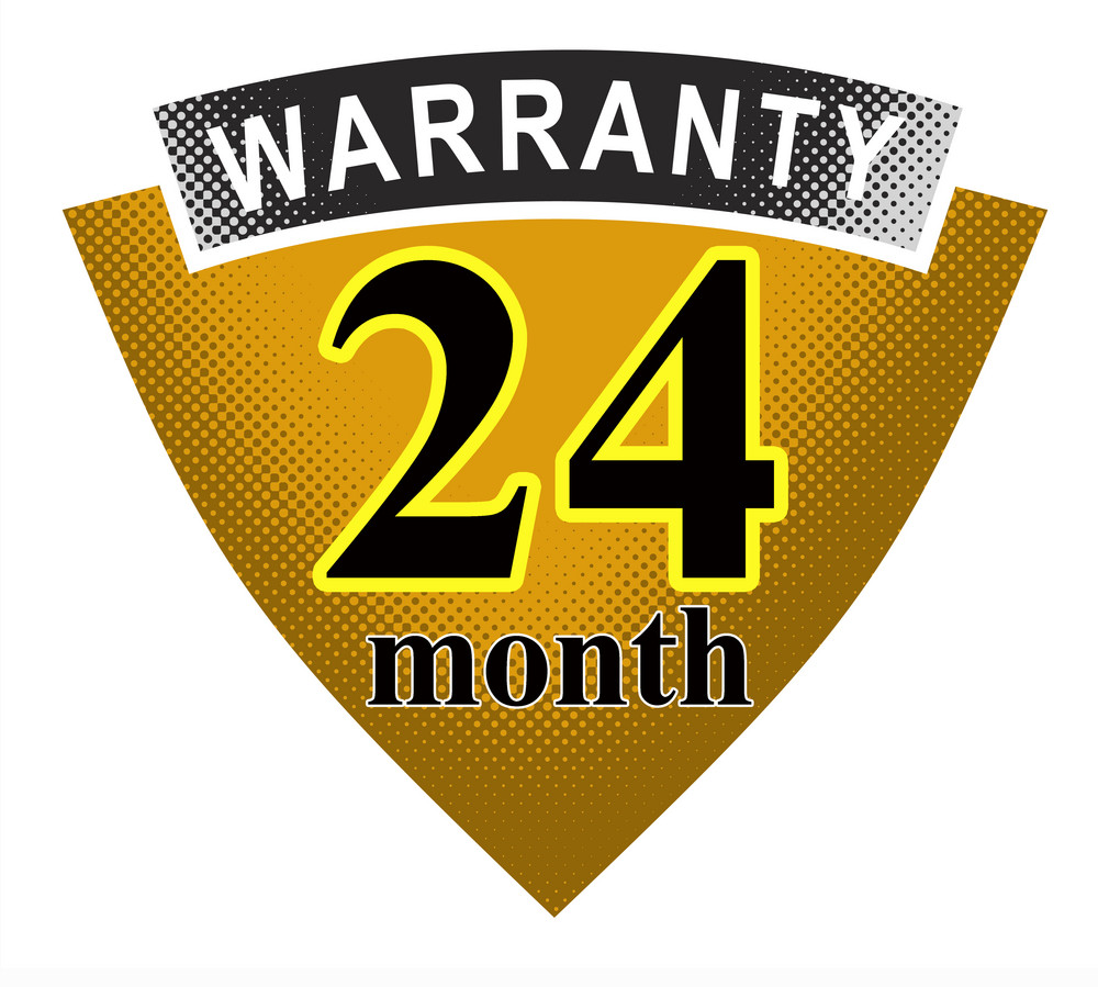 24 Month Warranty Shield And Ribbon