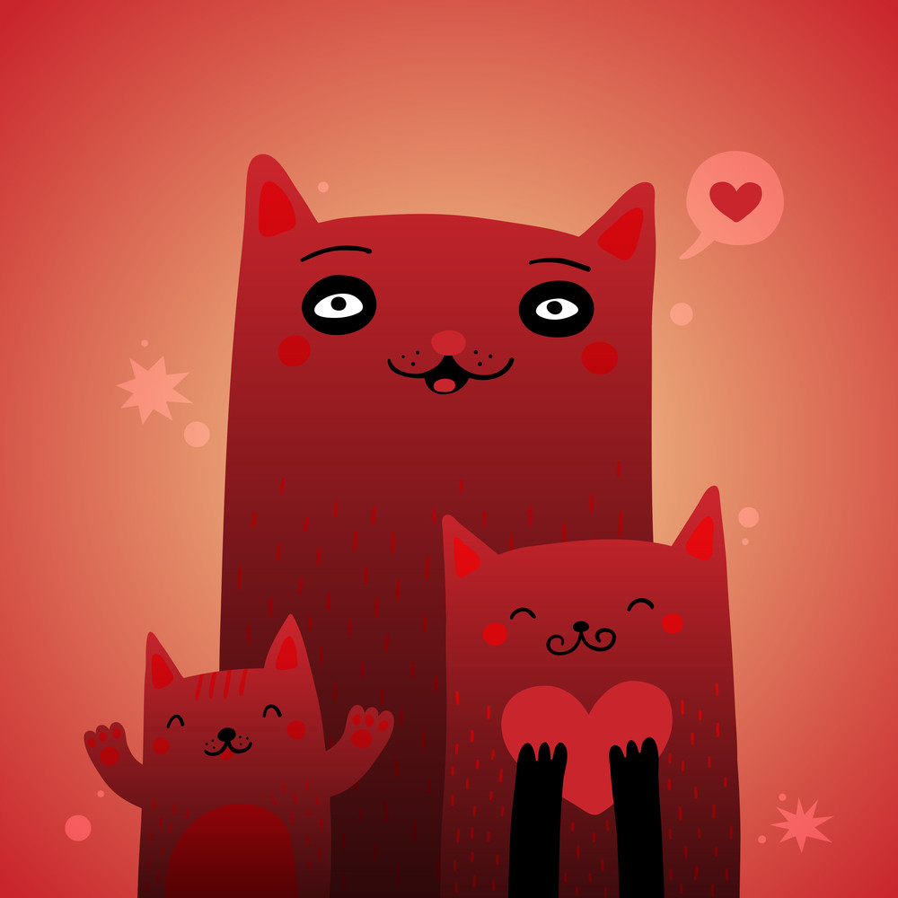 3 Cute Red Cats