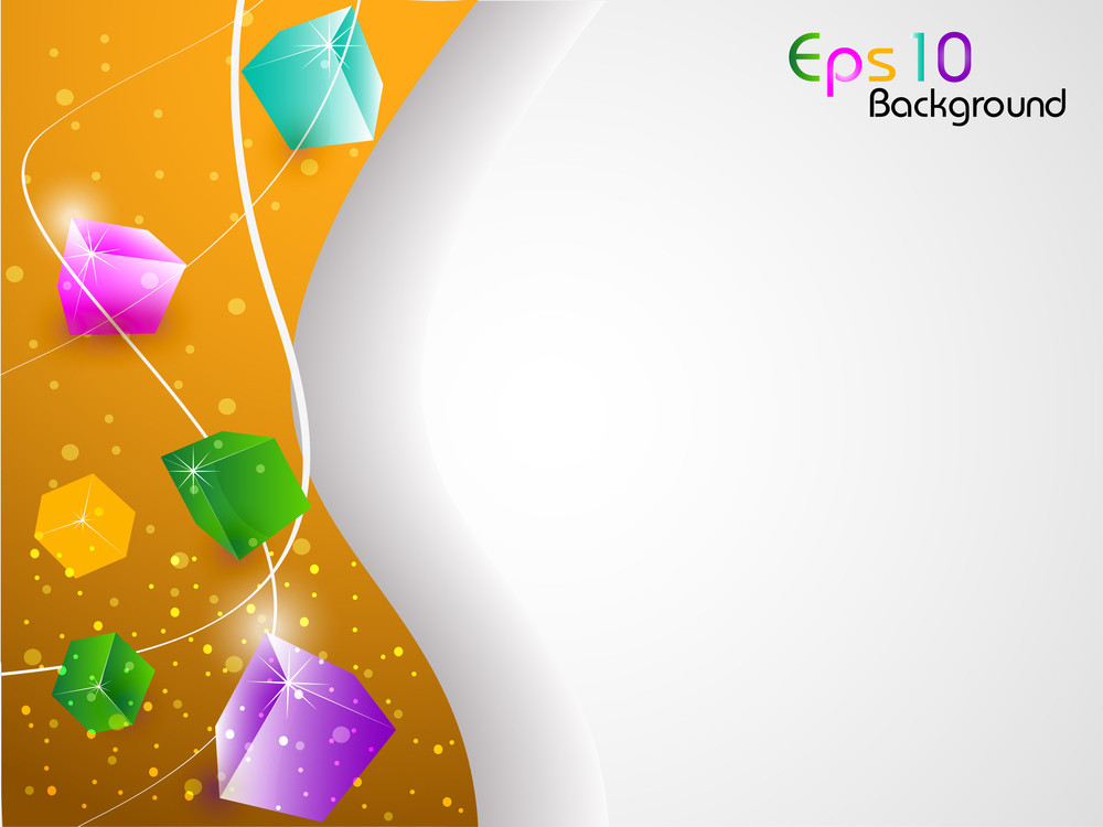 3d Abstract Shapes Background With Colorful Design For Text Project