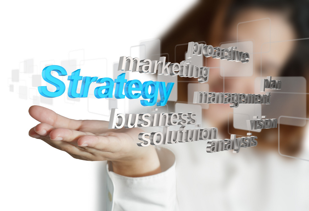 3d Business Strategy Icon As Concept