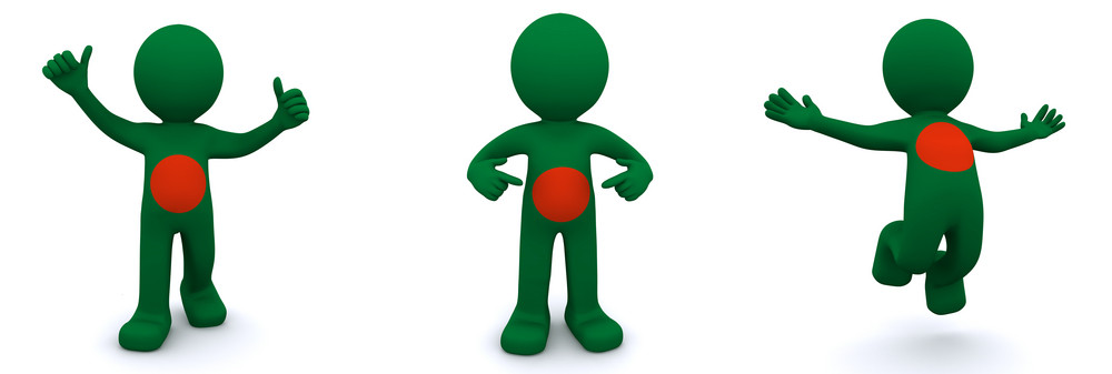 3d Character Textured With Flag Of Bangladesh