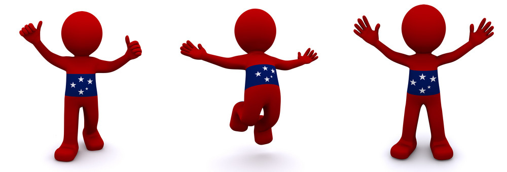 3d Character Textured With Flag Of Samoa