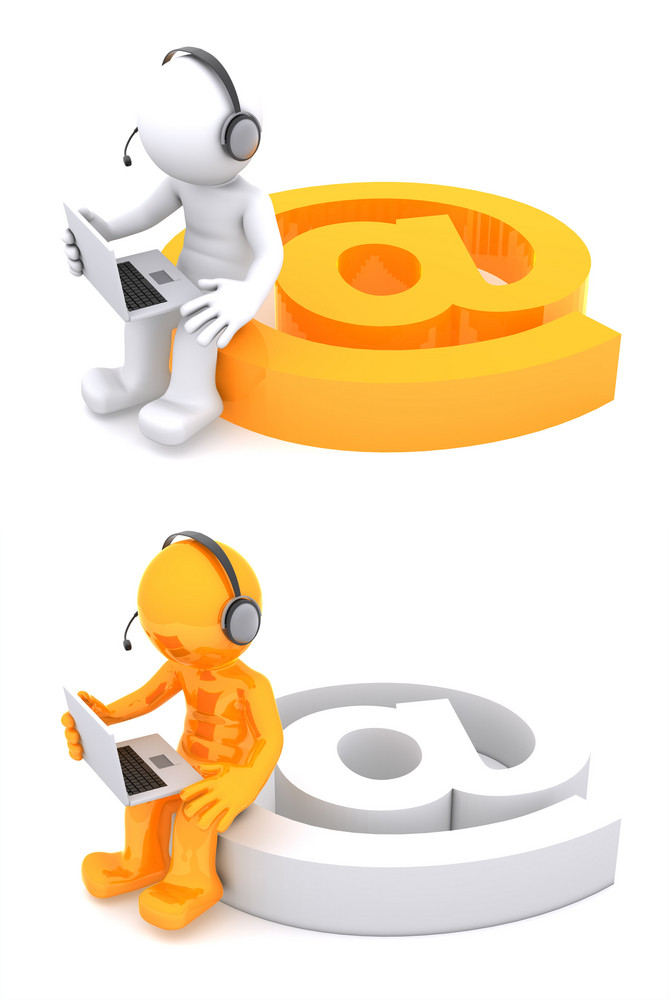 3d Character With An E-mail Sign