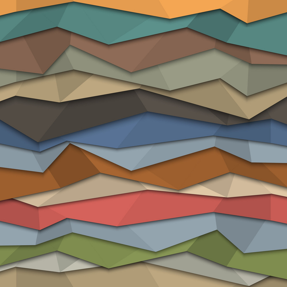 3d Colored Paper Background - Origami Style