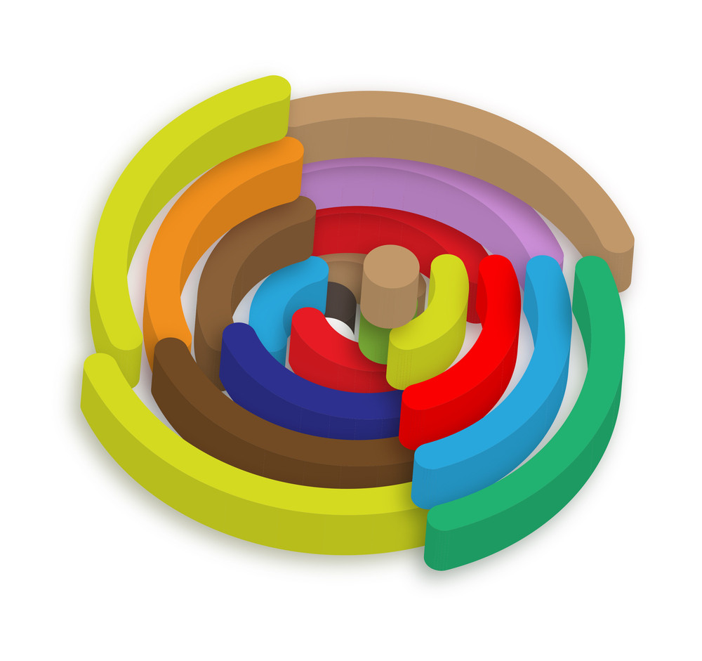 3d Colorful Rss Icon