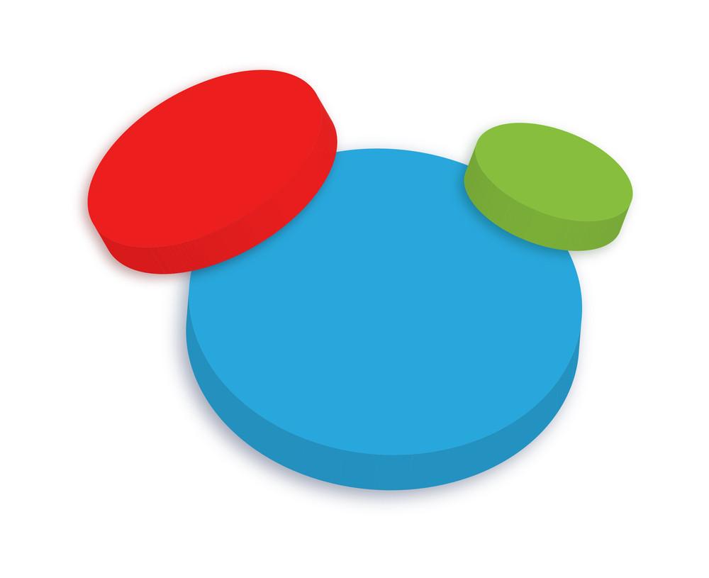 3d Colorful Tablets