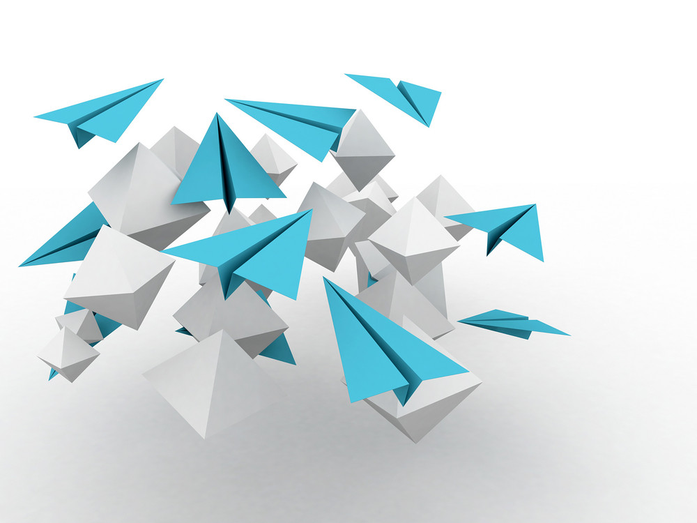 3d Cubes With Planes