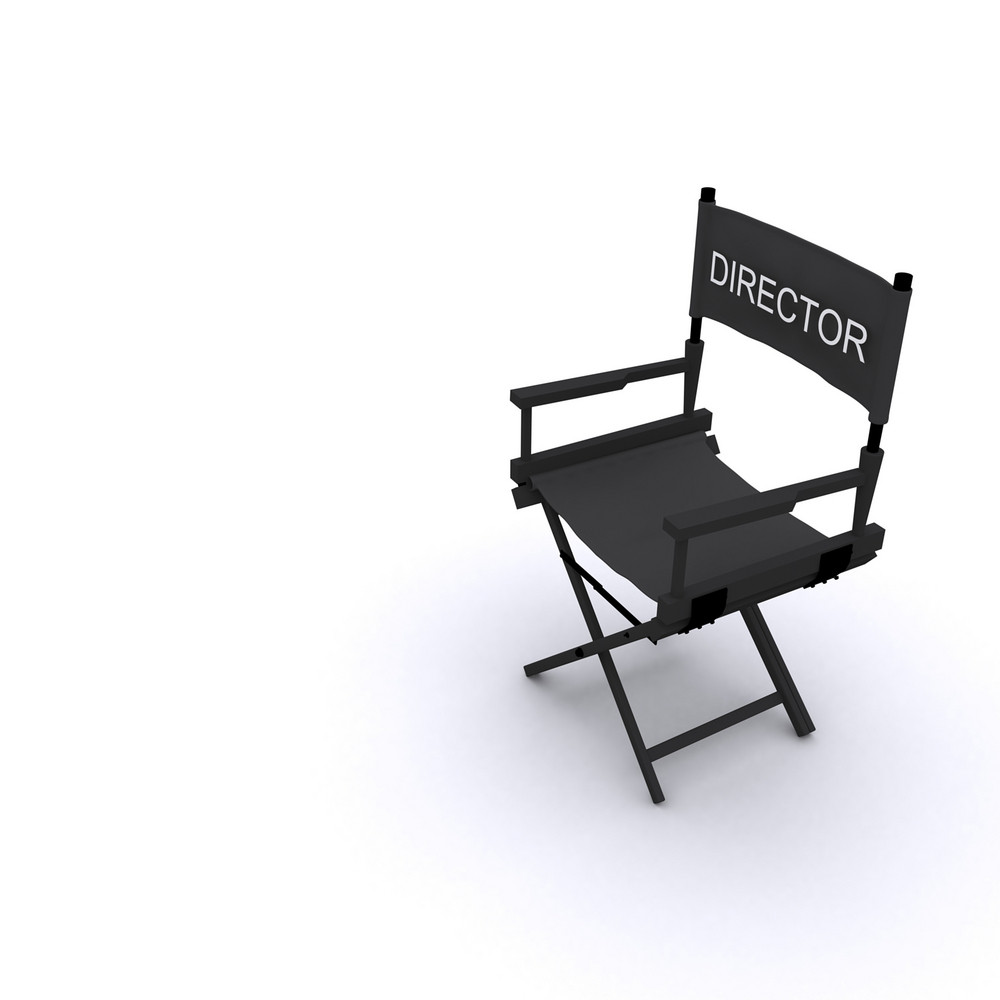 3d Director Chair Illustration