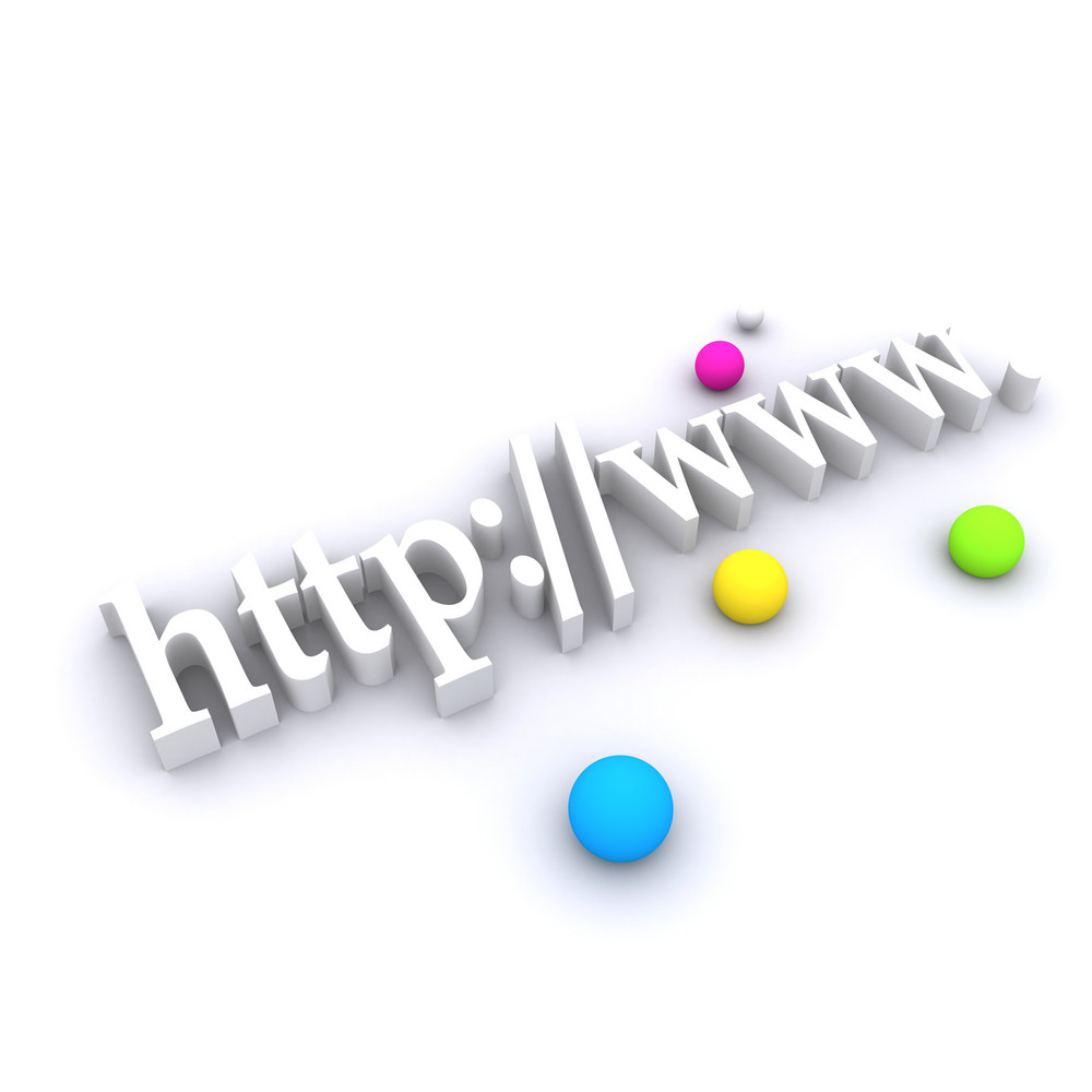 3d Domain Text With Balls