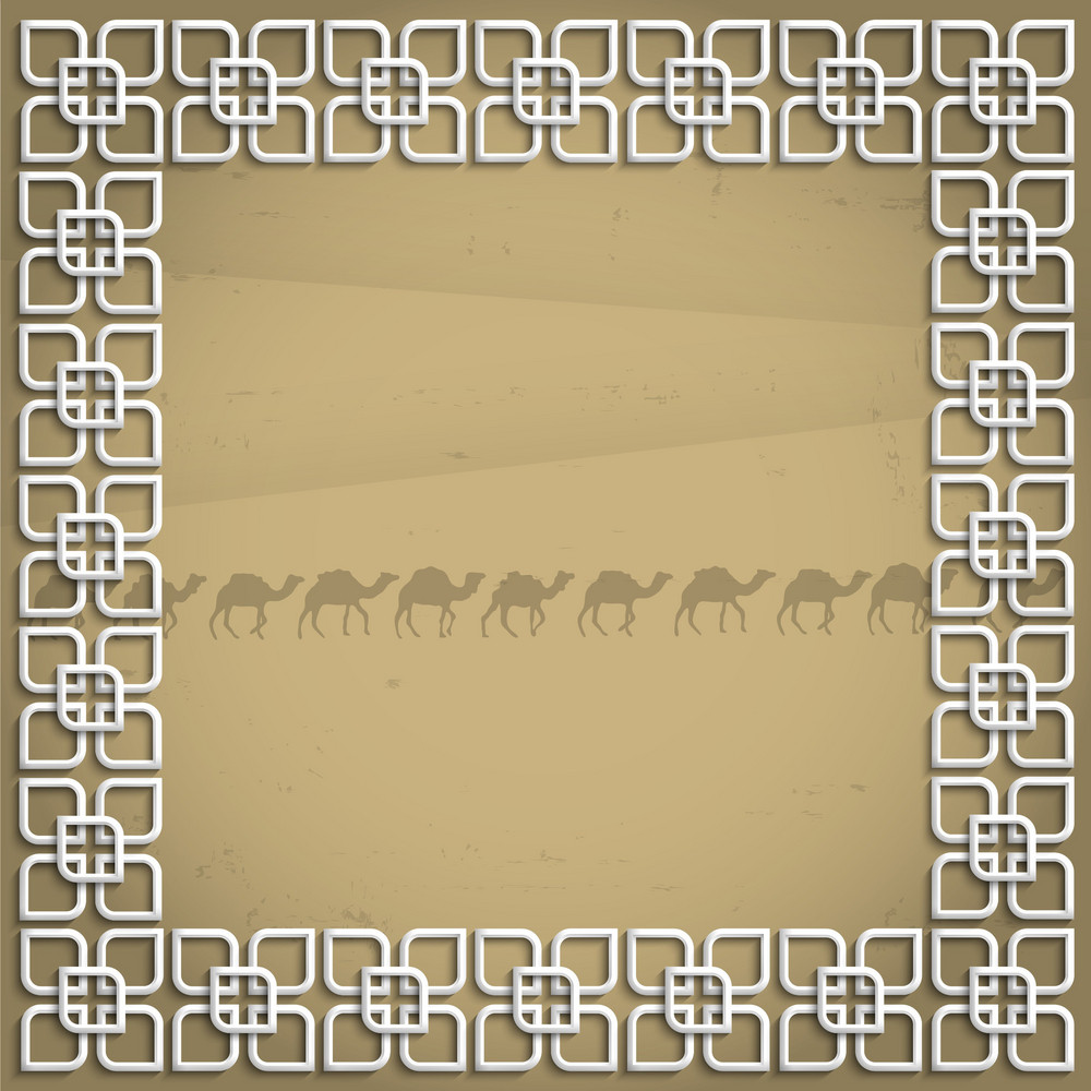 3d Frame In Arabic Style
