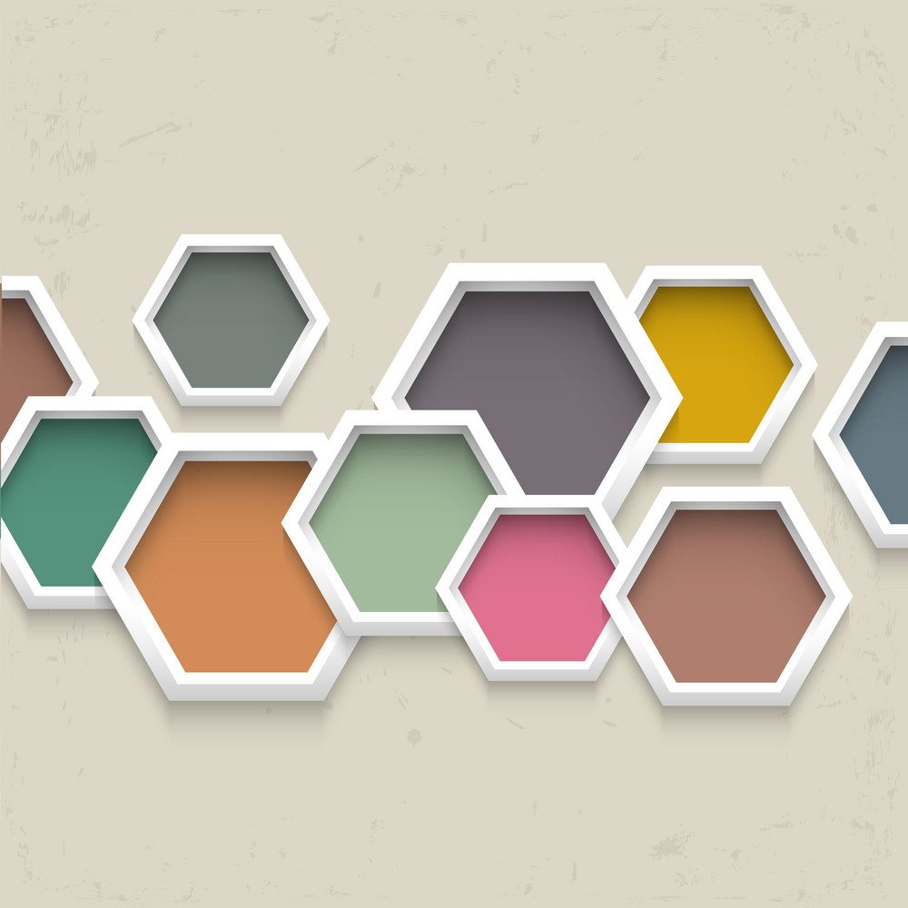 3d Geometric Background With Colorful Hexagons
