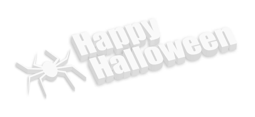 3d Halloween Spider Banner