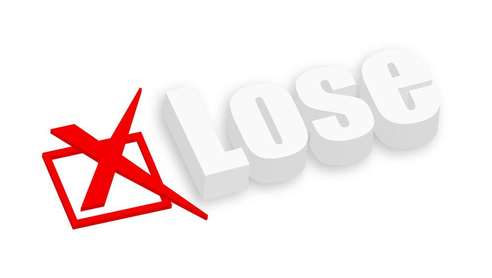 3d Lose Text