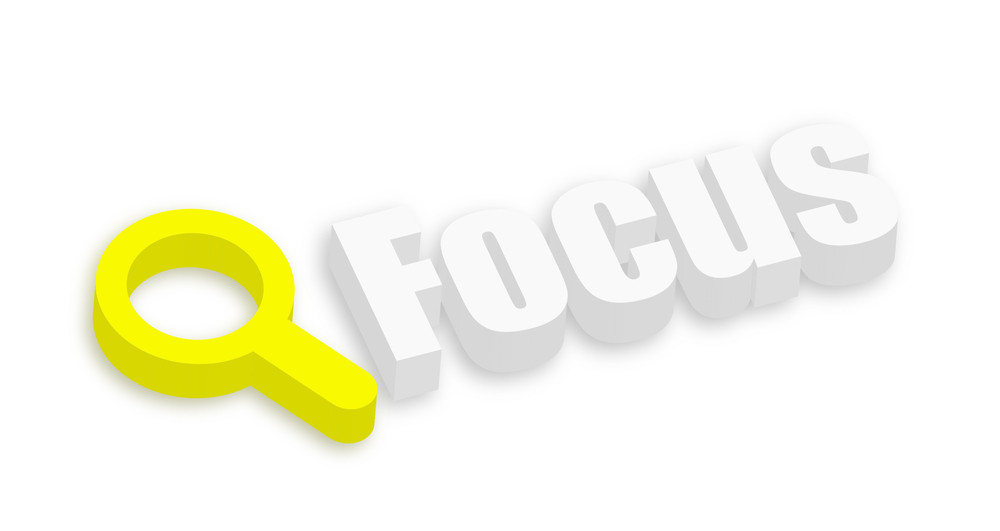 3d Magnifier Focus Banner