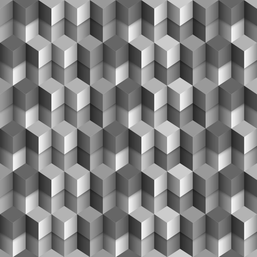3d Monochrome Cubes Background
