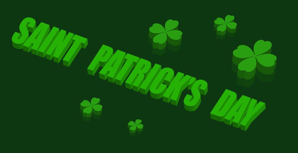 3d Patrick's Day Shamrock Banner